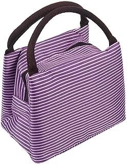 Wultia - Bags for WAMEN Striped Cold Storage Bags Thick Lunch Bag Lunch Bag Bolsa Feminina Purple