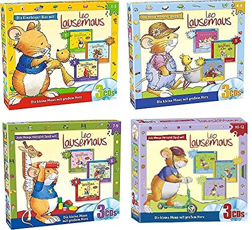 Leo Lausemaus - HSP zu den Büchern 3 CD Box 1+2+3+4 (CD 1 - 12) im Set - Deutsche Originalware [12 CDs]
