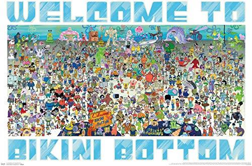 Trends International Nickelodeon Spongebob - Every Character Ever 19 Wall Poster, 22.375' x 34', Premium Unframed Version