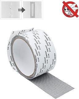 網戸補修 テープ 簡単取り付け 補修 防水 強粘着性 メッシュタイプテープ サイズ自由に裁断可 網戸パッチ 網戸の穴/破れを修復用5cm×200cm