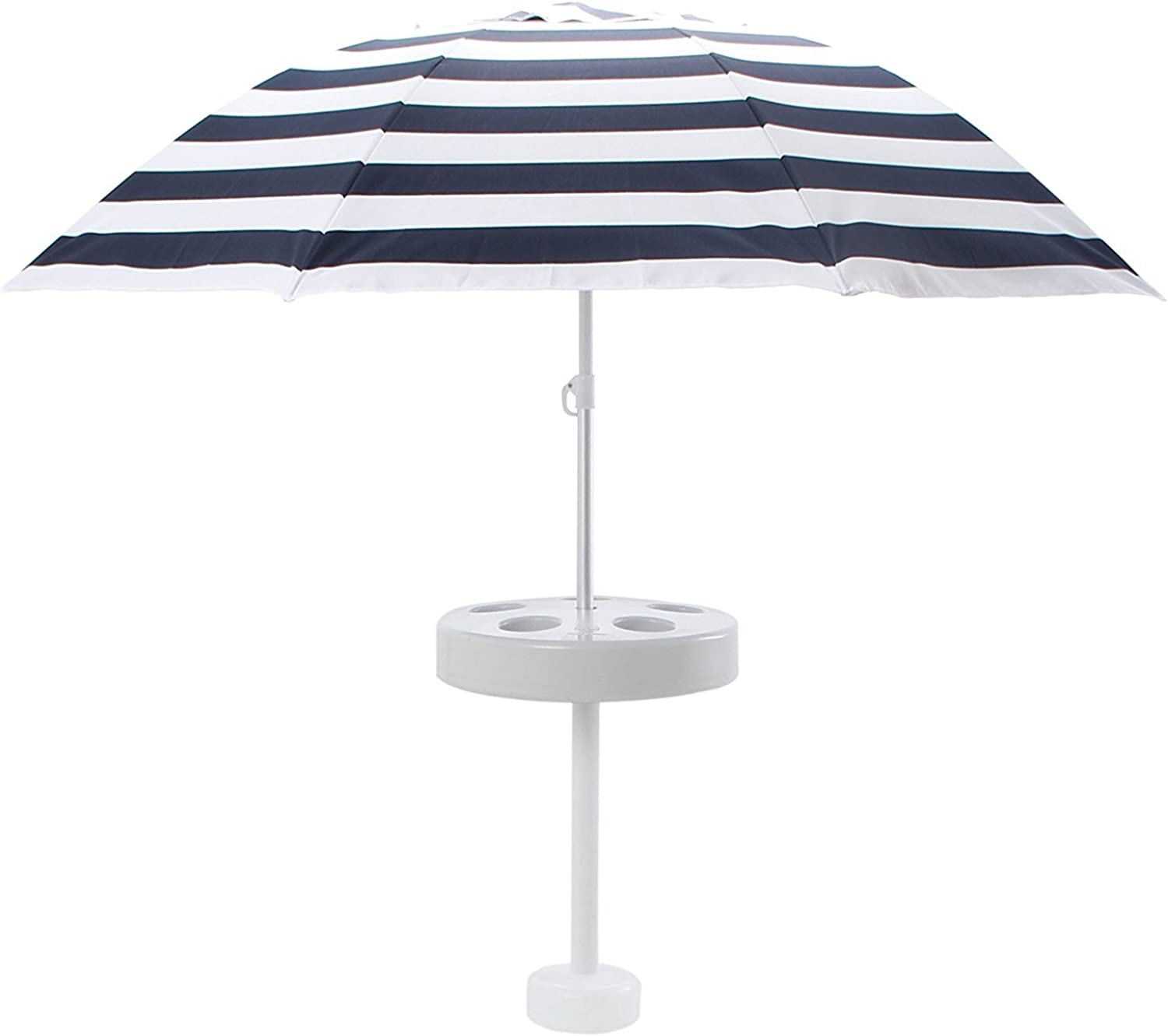 Shade Science PB-16110-NAV Pool Buoy Plus Floating Umbrella, Navy & White Stripe