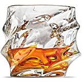 Ashcroft Everest Whiskey Glasses - Set of 2 - 10oz Unique Cool Crystal Rocks For Scotch, Bourbon, Vodka, Liquor