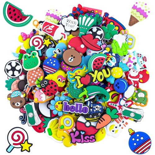 105PCS Lovely Shoe Charms for Shoes, PVC Different Birthday Charms Clog Shoes Decorations Charms Party Gift School Carnival Reward Prizes Decoration Supplies