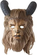 Beauty and the Beast Mask ,Yacn Full Face The Beast Mask Adult Costumes With Deluxe Wig Horns Props