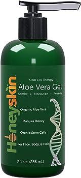 Organic Aloe Vera Leaf Gel (8 oz)