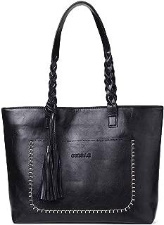 Women Vintage Tote Bag, OURBAG Ladies PU Leather Tote Shoulder Bag Handbag Purse Big Large