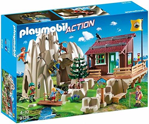 Playmobil- Action Giocattolo Rifugio degli Scalatori, Multicolore, 45 x 40 x 28.5 cm, 9126
