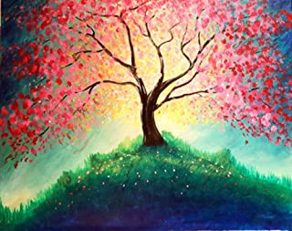 New 5D Diamond Painting Kits for Adults Kids, Awesocrafts Colorful Tree Flowers Full Drill DIY Diamond Art Embroidery Paint by Numbers with Diamonds (Tree)