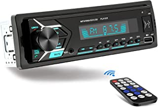 $30 » Single Din Car Stereo Bluetooth, 7 Color Car Radio Receiver with USB, MP3 Player/FM/WMA/TF/AUX-in, Hands-Free Calling, Wir...
