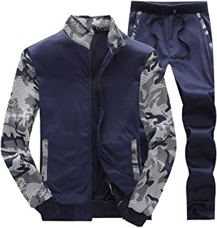 Men's Athletic Tracksuit Set Autumn Winter Thick Warm Fleece Running Jogging Sportwear Sweat Suit Elastic Sports Set