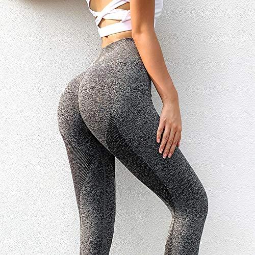 Leggings Casuales De MujerLeggings Sin Costuras para Mujer Casual De Cintura Alta Push Up Leggins hasta El Tobillo Jeggi