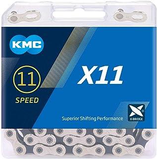 KMC Unisex's X11 11 Speed Chain, Silver/Black, 118 Link