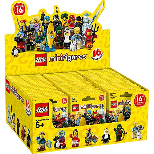 LEGO Display/Box 71013 with 60 Minifigures Serie 16 Sept.2016
