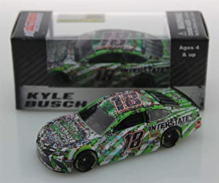 Lionel Racing Kyle Busch 2019 Fontana Auto Club 200th NASCAR Win Interstate Raced Version NASCAR Diecast Car 1:64 Scale
