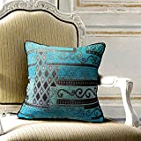 Artbisons Blue Throw Pillow Covers 18x18 Inches Soft and Thickened Cushion Cases Set of 2 Decorative Cushion Covers (Blue Abstract)