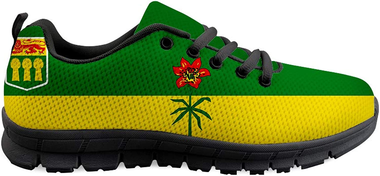 Owaheson Lace-up Sneaker Training shoes Mens Womens Saskatchewan Flag