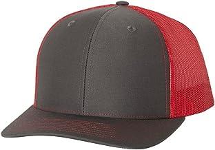 Richardson. Charcoal/Red. Adjustable. 112. 00739845507244