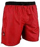 GUGGEN Banador de Natacion para Hombre Traje de Bano Color Roja XXXL