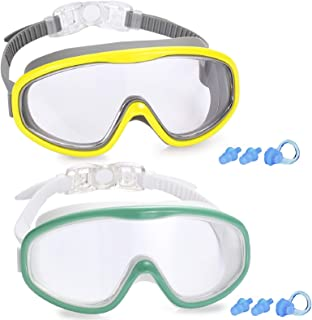 Kabuda 2 Pack Swim Goggles, Swimming Glasses for Adult Men Women Youth, Anti Fog UV400
