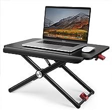 Standing Desk Converter, TaoTronics Stand Up Desk Sit Stand Desk Adujstable, 5 Height Levels Riser Sitting Standing Workst...