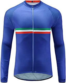 Uglyfrog 2018 Summer Style Men's Long Sleeve Cycling Jersey, Bike Biking Shirt- Breathable and Quick Dry SPIFY03