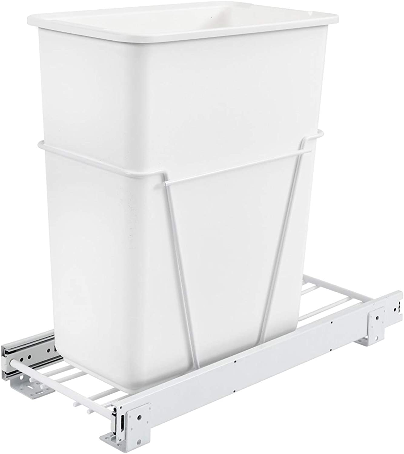 Rev-A-Shelf 30 Quart Pullout Waste Container, White