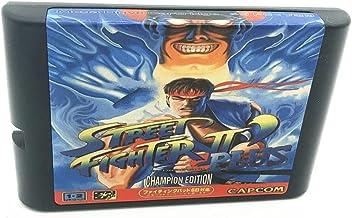 Royal Retro Street Fighting 2 Plus pour console de jeux vidéo Sega Genesis et Mega Drive 16 bits (noir)