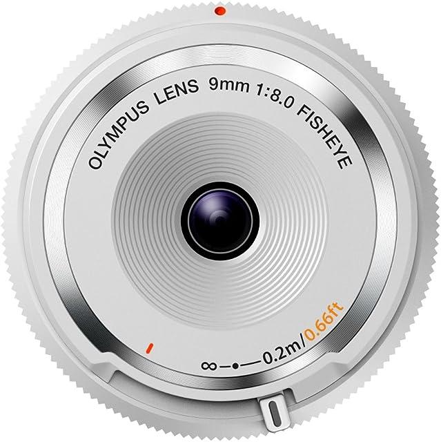 Olympus BCL-0980 - Objetivo para Micro Cuatro tercios (Distancia Focal 9 mm Apertura f:8 diámetro de Filtro 56 mm) Color Blanco