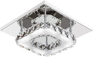 Cool Breeze LAMPE Luz De Techo LED De Cristal Moderna Luz Blanca Simple Lámpara De Techo Luz De Pasillo Sala De Estar Dormitorio Comedor Iluminación De Techo