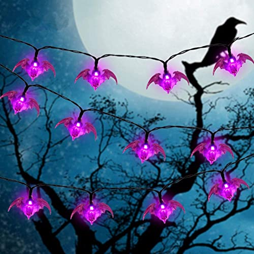 2021 Twinkle Star Halloween String Lights, 19.2ft 40LEDs Purple Bat Halloween Decorative Light, Battery discount Powered with 8 Lighting new arrival Mode Waterproof Spooky Light for Party Patio Indoor & Outdoor Use outlet online sale