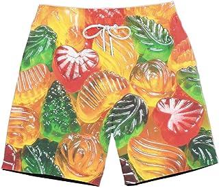 XIELH Shorts Summer 3D Printed Beach Pants Home Plus Size Loose Pants 3D Fruit Candy Printed Beach Shorts