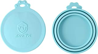 aero pet Can Lids | 2 Pack | Universal Can Covers for Cat and Dog Food Can Lids | BPA Free Silicone Lid Tops Fit All Standard Dog and Cat Food Lids