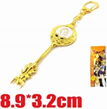 Cosplay Fairy Tail Keys, Lucy Heart Key Chain Celestial Spirit Gate Keyring, Zodiac Keys and Keyring, (狮子座 Leo)