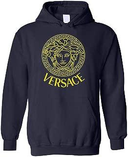 Ver sace Vintage Embellished Medusa Unisex Hoodies Sweatshirt, Ver sace gift