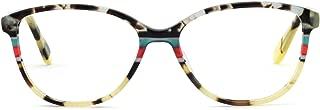 Womens Gorgeous Oval Stripe Pattern Non-Prescription Eyewear Frames For Elegant Lady