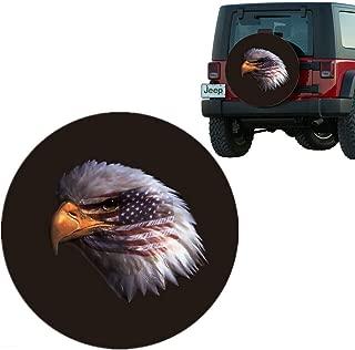 Moonet Eagle Head Spare Tire Wheel Cover Car Truck SUV Camper Fits Jeep CRV FJ Hummer Land Rover Outlander Grand Vitara Size XXL R18 P285/75R17 P275/70R18 (Diameter 33inch-35inch)