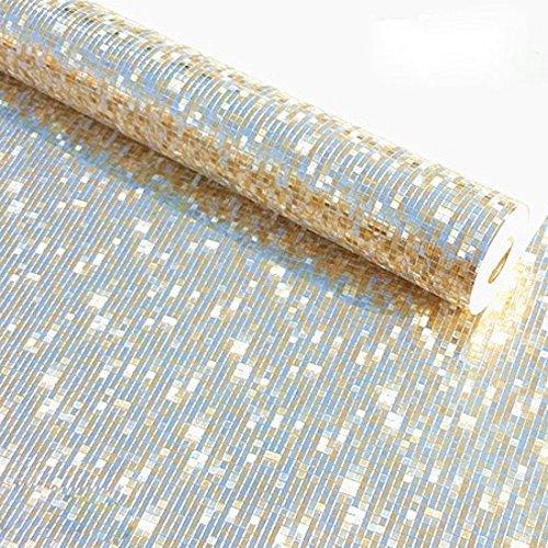 KeTian Moderner Luxus Dicker Goldfolie Mosaik Hintergrund Flicker Wandpapierrolle/Hoteldecke/Dekorativ/Bar Tapetenrolle Blasse Goldfarbe 0.53 m (1.73 'W) x 10 m (32.8' L) = 5.3 m2 (57 sq.ft)
