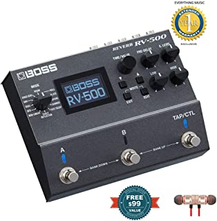 Boss RV-500 Reverb Pedal includes Free Wireless Earbuds - Stereo Bluetooth In-ear and 1 Year Everything Music Extended Warranty