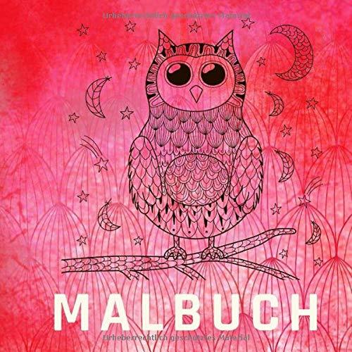 Malbuch: Hübsches Ausmalbuch mit Mandalas. Ausmlabuch für Kinder mit über 30 lustigen Motiven und Zitaten. Im quadratischen Format 20,5 x 20,5
