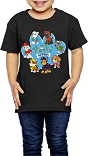 Geneva F Paw Patrol Child's T-Shirt for Girls & Boys Black