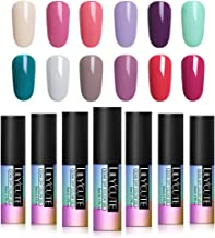 LILYCUTE 5ml Nail Gel Polish Soak Off UV Gel Polish Pure Color Nail Art Gel Varnish 12 Colors Set #4