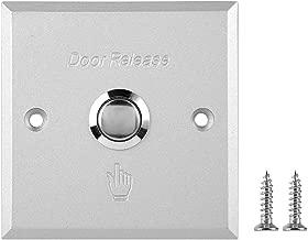 Zopsc Door Open Exit Button 12V Mini Door Push Release Open Switch with Self-Reset Aluminum Alloy Button Pour Door Access Control (A80)