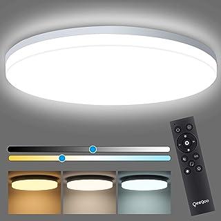 چراغ سقفی LED مدرن قابل تنظیم با چراغ سقفی کنترل از راه دور 24 وات کوه روشنایی برای اتاق خواب / اتاق ناهار خوری اتاق / اتاق ناهار خوری ، روشنایی 10 ~ 100٪