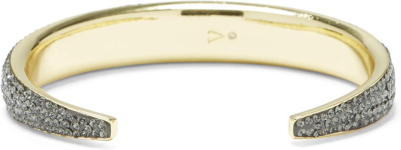 Vince Camuto Tapered Cuff, Goldtone/Black Diamond, Small (VJ-600995)