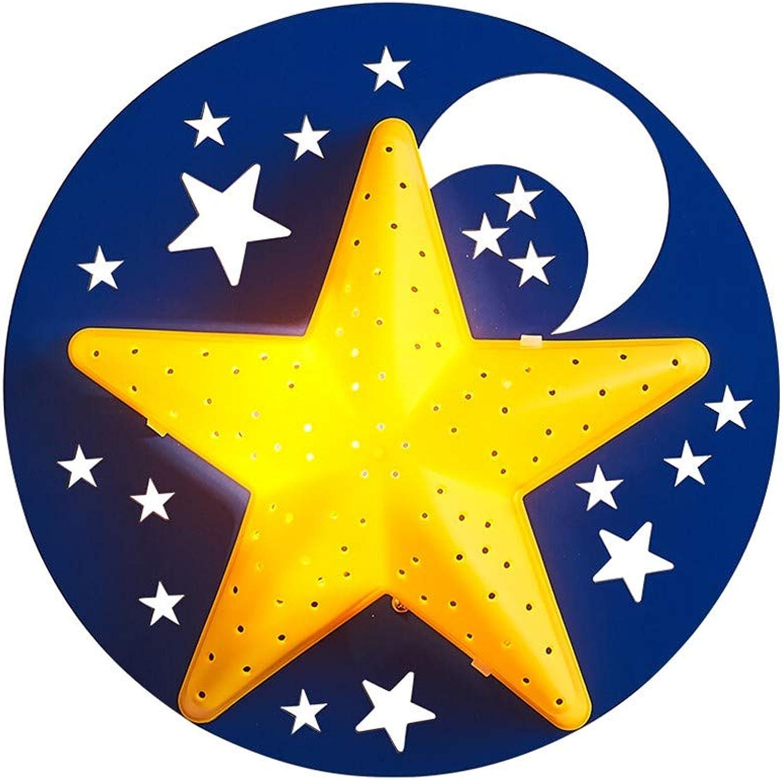 XIAODIANER Wandleuchte Kreative Persnlichkeit Cartoon Sterne Wandleuchte Schlafzimmer Nachtwandlampe Durchmesser 32cm