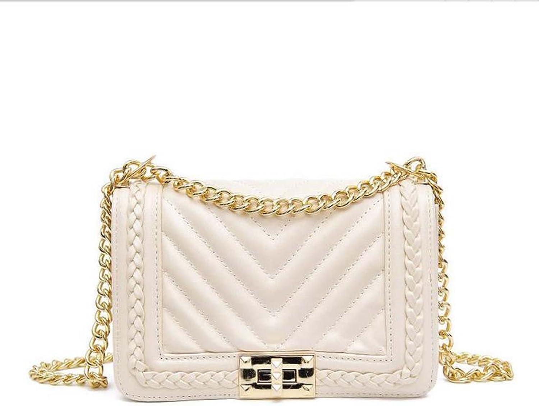 97ca59cc15c7 Women's Medium Leather Square White Black Crossbody Bag Handbag ...