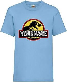 StitchPrint Personalised Kids Dinosaur Jurrasic Park T-Shirts. Birthday Boys Girls Kids Top