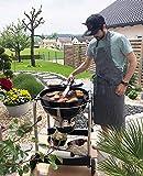 ZOLLNER Kochschürze verstellbar aus Baumwolle, 75x100 cm, schwarz/weiß (UVM.) - 5