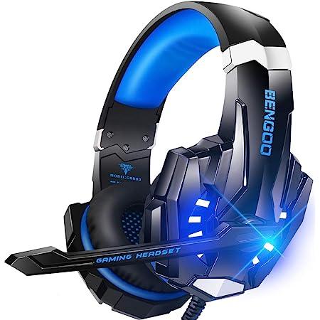 Bengoo ゲーミングヘッドセット ps4 ヘッドセット ps5 ヘッドセット ゲーミングヘッドホン ヘッドホン 有線 マイク付きヘッドホン ヘッドフォン 重低音 高音質 3.5mm端子 PS4 PS5 SWITCH PCに対応 (青)