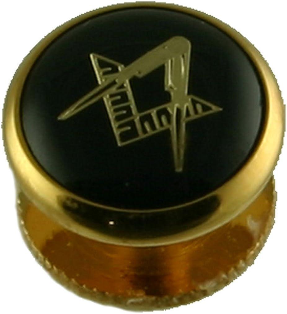 Select Gifts Masonic Shirt Dress Studs Box Set Five~Pack of 5 Gold-Tone Black Studs